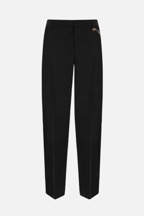 GIVENCHY: chain-detailed wool pants Color Black_1
