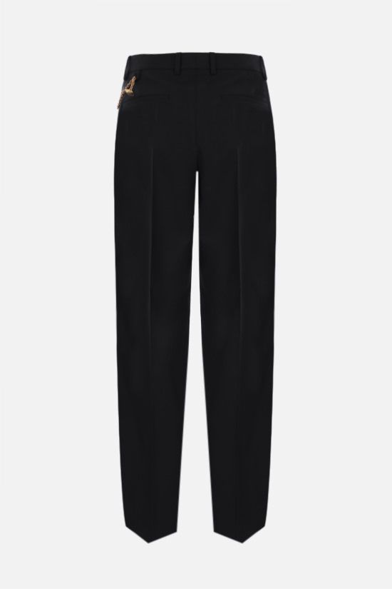 GIVENCHY: chain-detailed wool pants Color Black_2