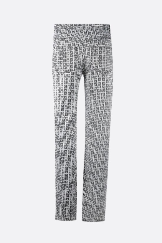 GIVENCHY: 4G jacquard denim effect pants Color Black_2