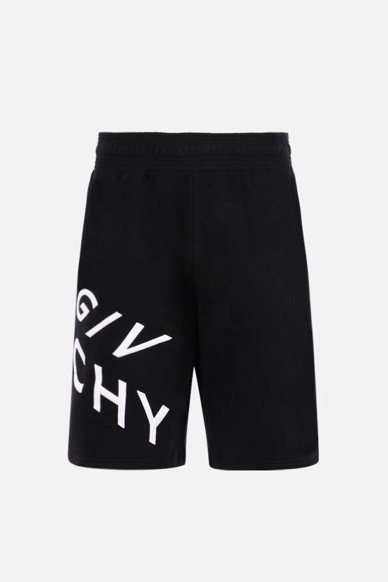 GIVENCHY: Givenchy Refracted cotton shorts Color Black_1
