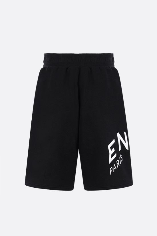 GIVENCHY: Givenchy Refracted cotton shorts Color Black_2