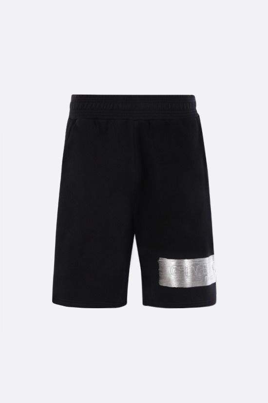 GIVENCHY: logo-detailed cotton shorts Color Black_1