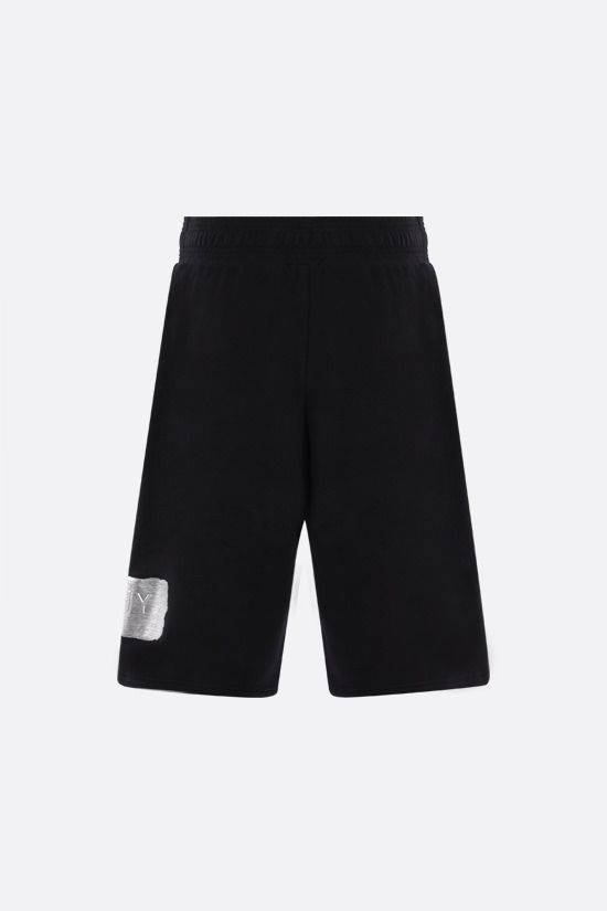 GIVENCHY: logo-detailed cotton shorts Color Black_2