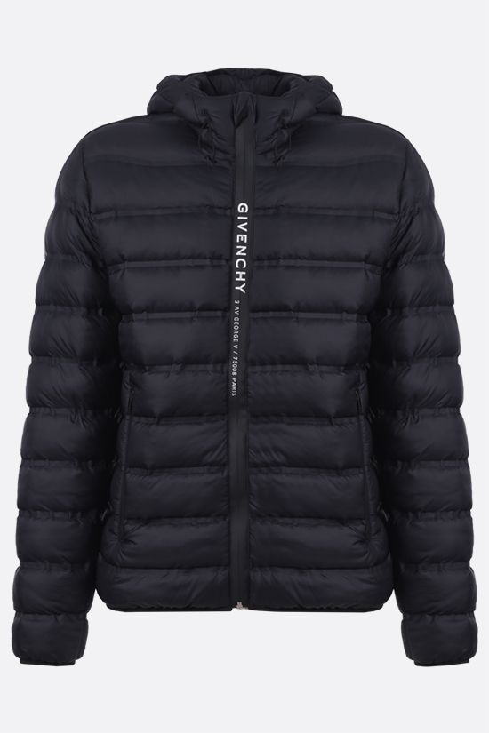 GIVENCHY: Adresse Givenchy band-detailed nylon padded jacket Color Black_1