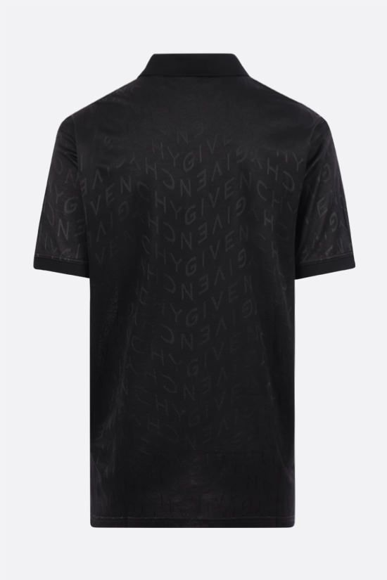 GIVENCHY: polo in piquè a motivo Givenchy Refracted Colore Nero_2