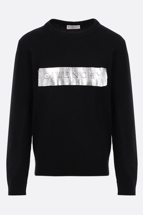 GIVENCHY: logo-detailed wool pullover Color Black_1