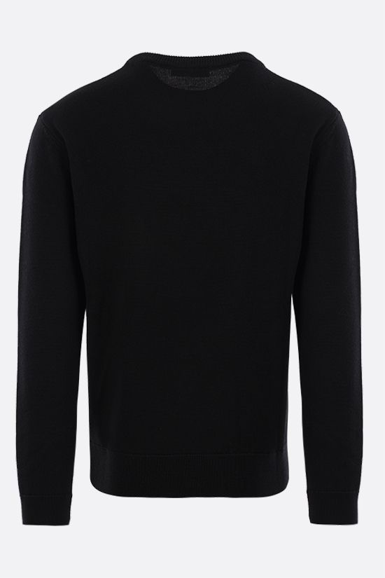 GIVENCHY: logo-detailed wool pullover Color Black_2