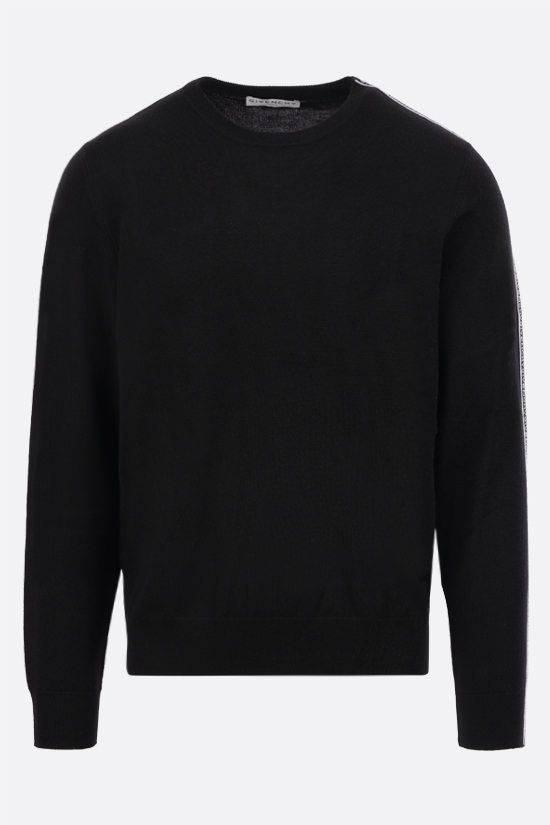GIVENCHY: Givenchy tape-detailed wool pullover Color Black_1