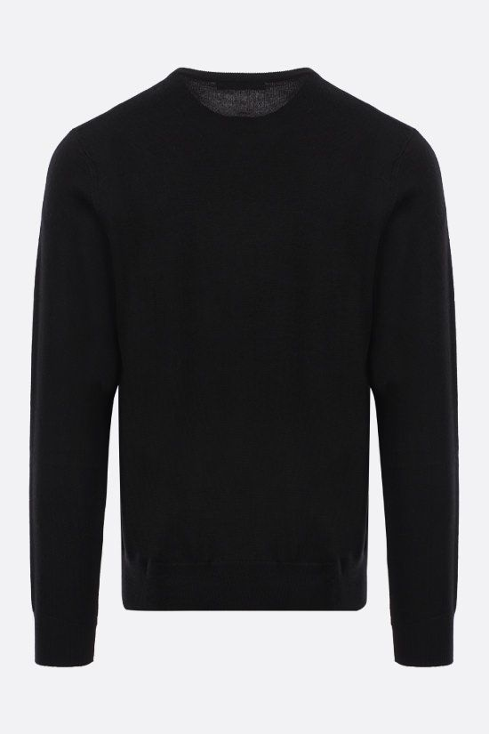 GIVENCHY: Givenchy tape-detailed wool pullover Color Black_2