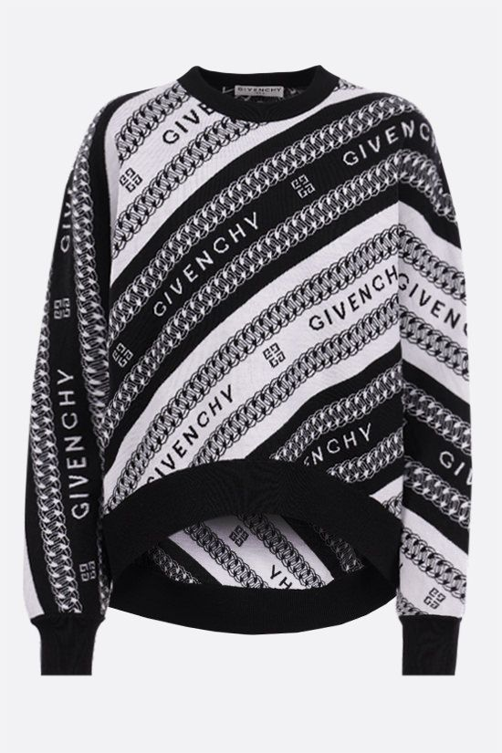 GIVENCHY: pullover Givenchy Chaine in lana Colore Nero_1