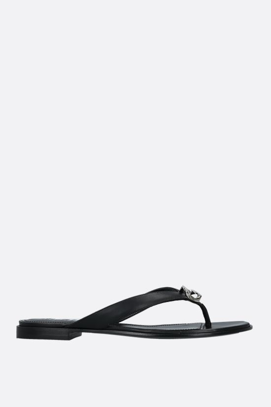 GIVENCHY: G Chain nappa thong sandals Color Black_1