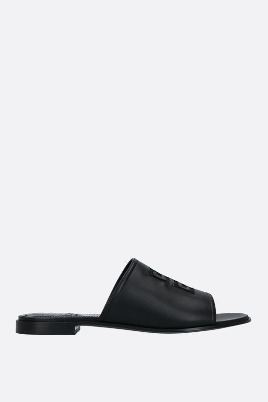 GIVENCHY: 4G nappa slide sandals Color Black_1