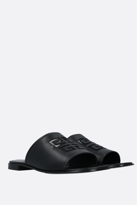 GIVENCHY: 4G nappa slide sandals Color Black_2