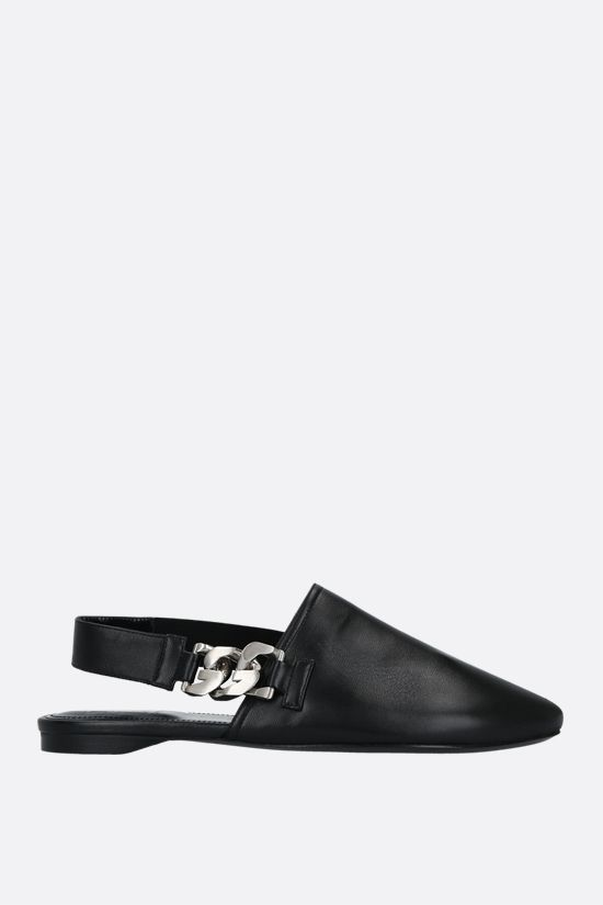 GIVENCHY: G Chain nappa slingbacks Color Black_1