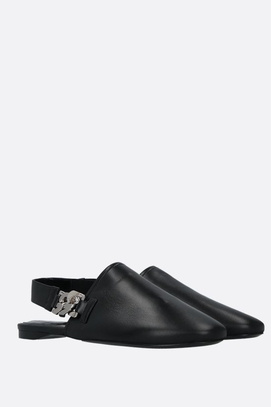 GIVENCHY: G Chain nappa slingbacks Color Black_2