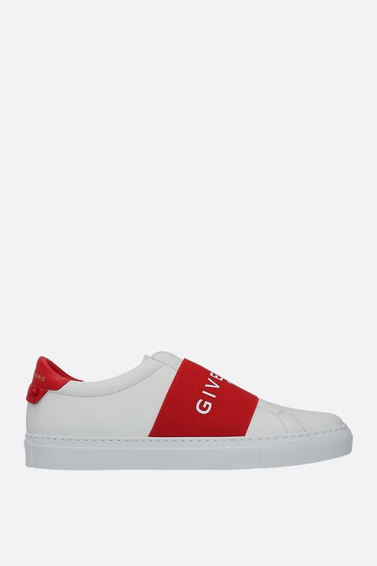 GIVENCHY: Urban Street smooth leather sneakers Color Red_1