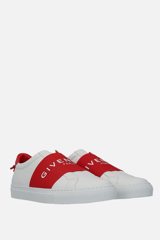 GIVENCHY: Urban Street smooth leather sneakers Color Red_2
