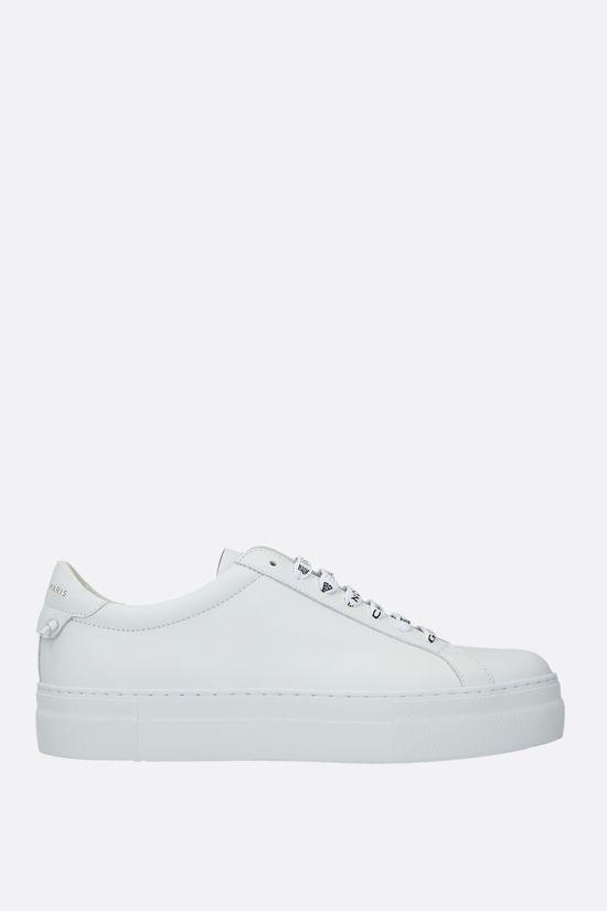 GIVENCHY: Urban Street matte leather flatform sneakers Color White_1