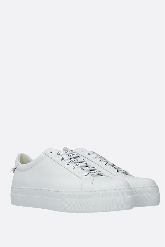 GIVENCHY: Urban Street matte leather flatform sneakers Color White_2