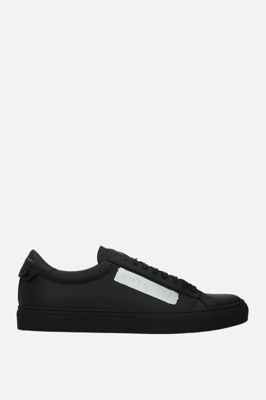 GIVENCHY: Urban Street matte leather sneakers Color Black_1