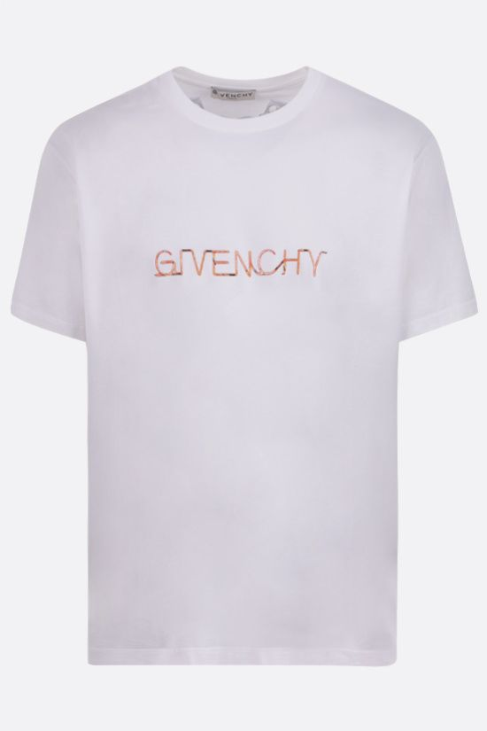 GIVENCHY: t-shirt Givenchy Neon Lights in cotone Colore Bianco_1