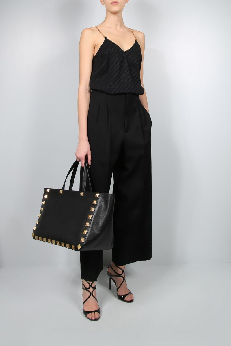 GIVENCHY: top Givenchy Chaine in seta Colore Nero_2
