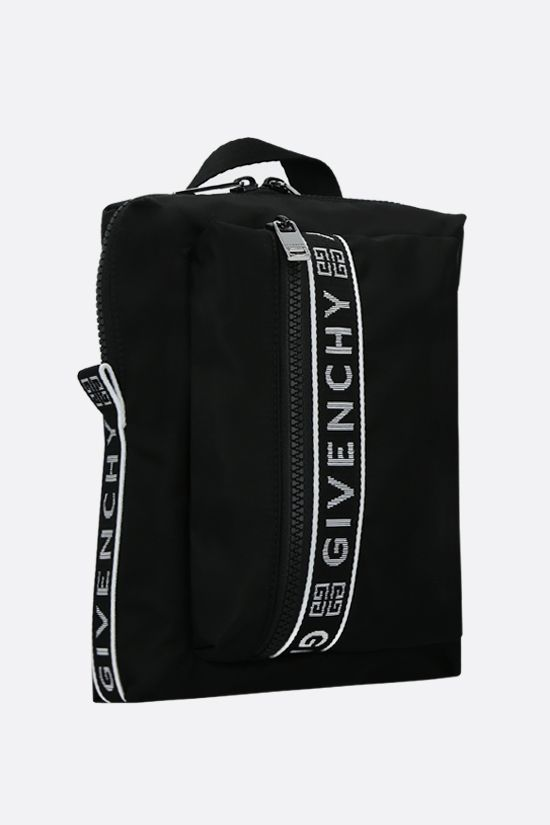 GIVENCHY: zaino monospalla Light 3 in nylon Colore Nero_2