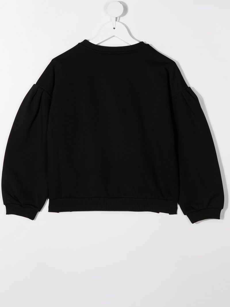 GIVENCHY KIDS: Givenchy Paris print jersey sweatshirt Color Black_2