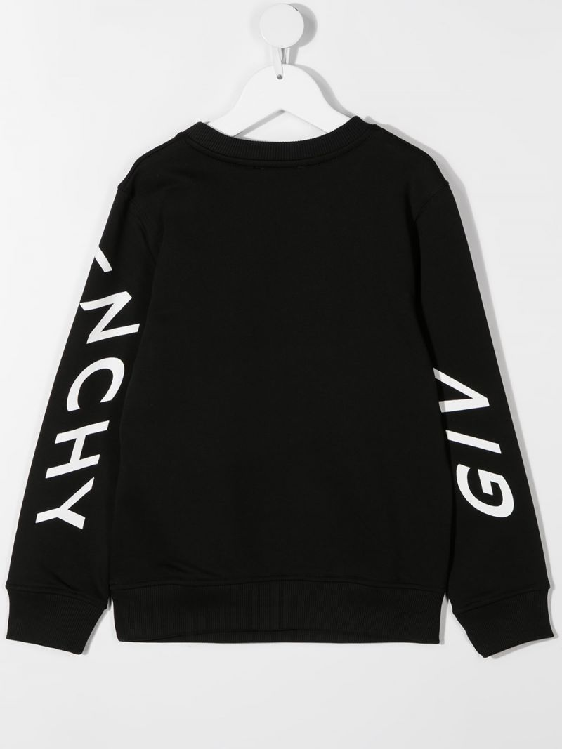 GIVENCHY KIDS: Givenchy Refracted jersey sweatshirt Color Black_2