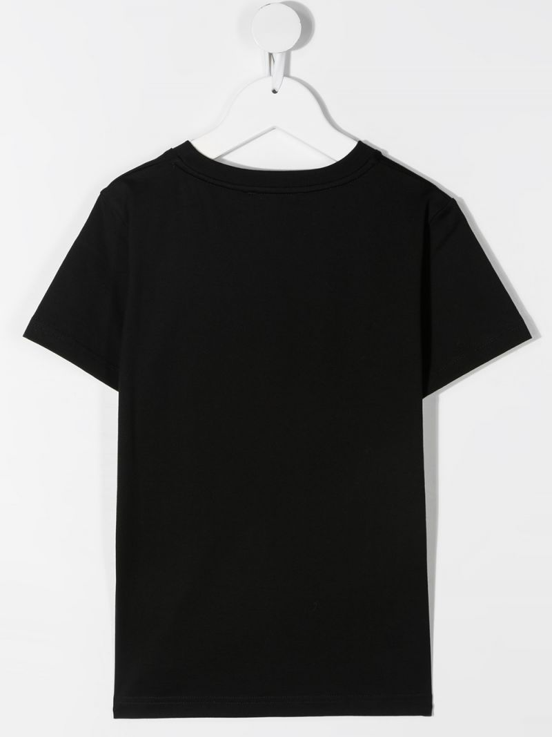 GIVENCHY KIDS: Givenchy Refracted cotton t-shirt Color Black_2