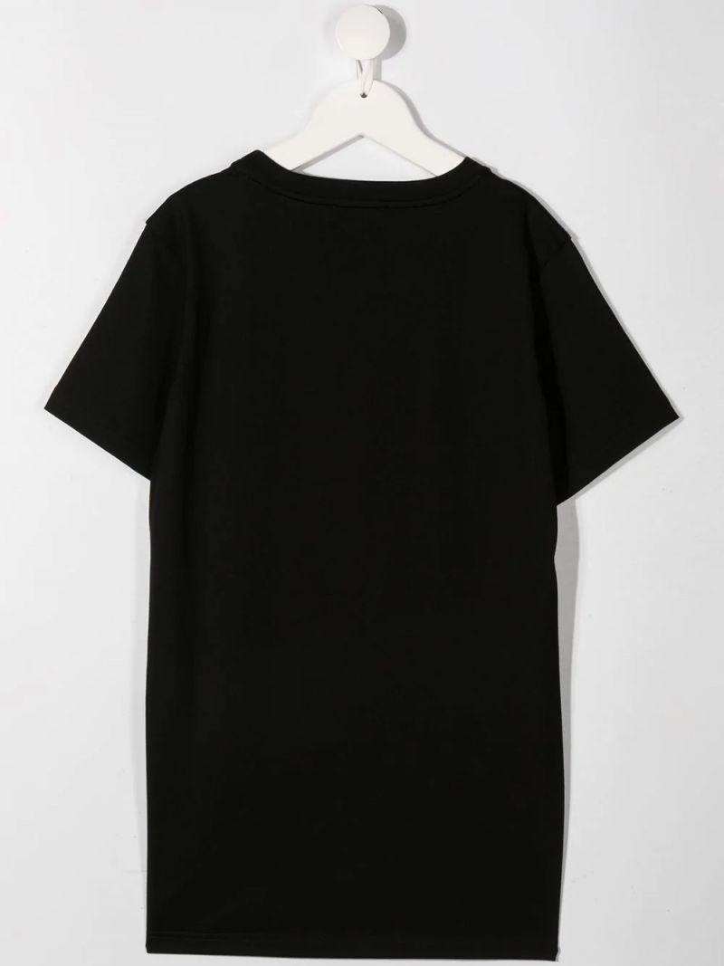 GIVENCHY KIDS: t-shirt in cotone stampa logo camouflage Colore Nero_2