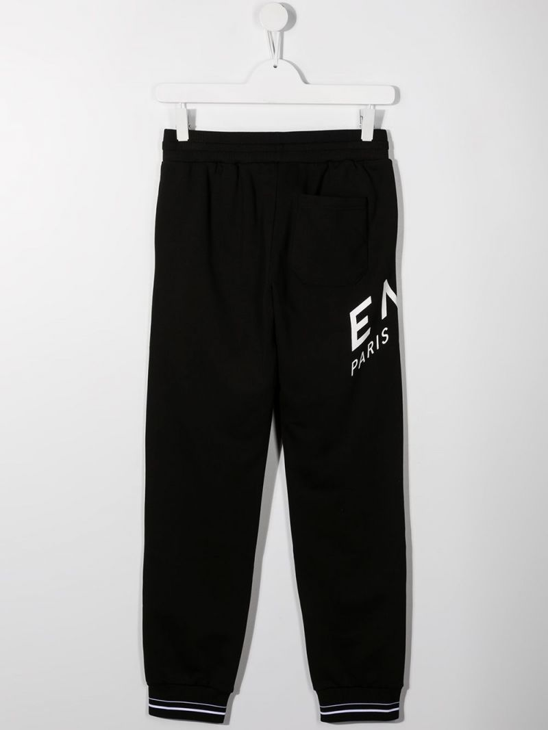 GIVENCHY KIDS: Givenchy Refracted jersey joggers Color Black_2