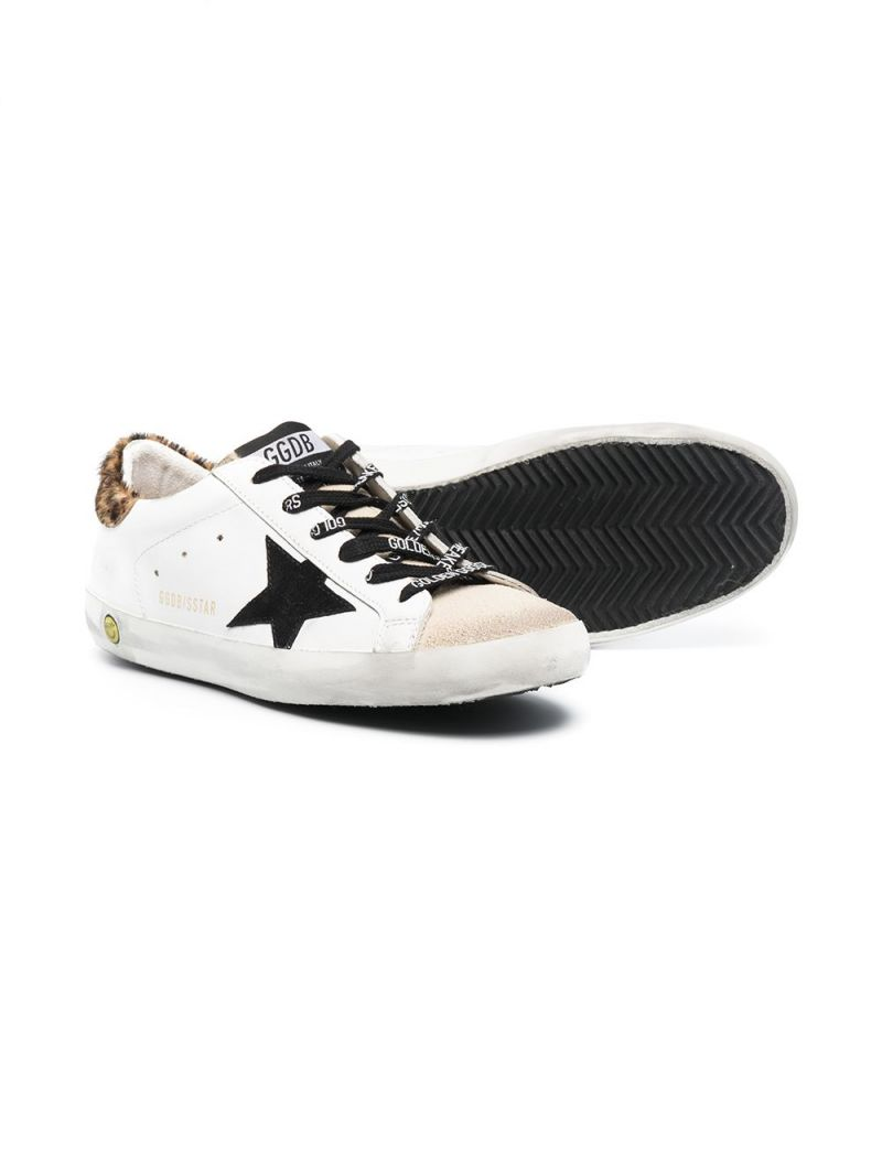 GOLDEN GOOSE DELUXE BRAND KIDS: Superstar smooth leather and suede sneakers Color Multicolor_2