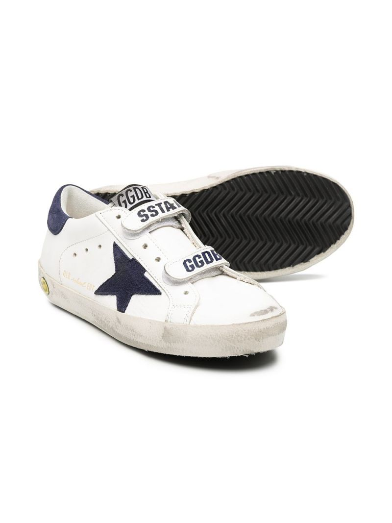 GOLDEN GOOSE DELUXE BRAND KIDS: Superstar smooth leather sneakers Color White_2
