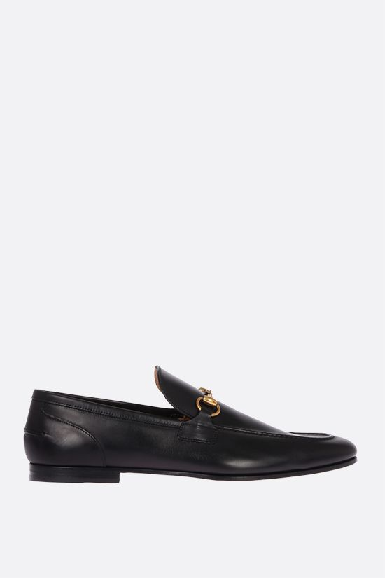 GUCCI: Jordan shiny leather loafers Color Black_1