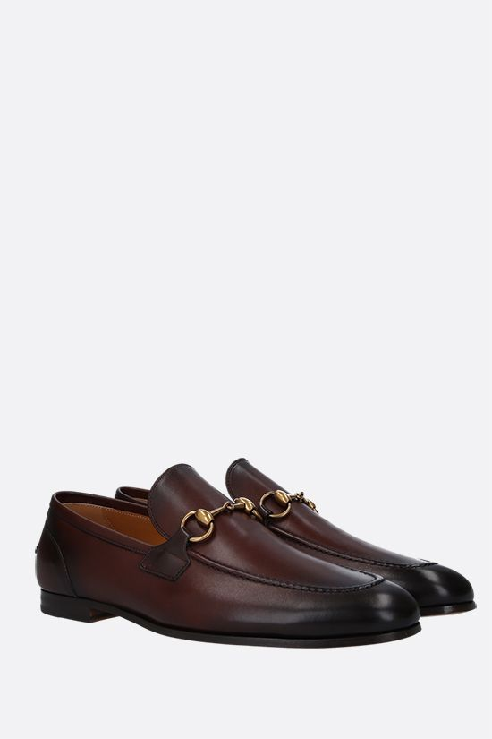 GUCCI: Jordan shiny leather loafers Color Brown_2