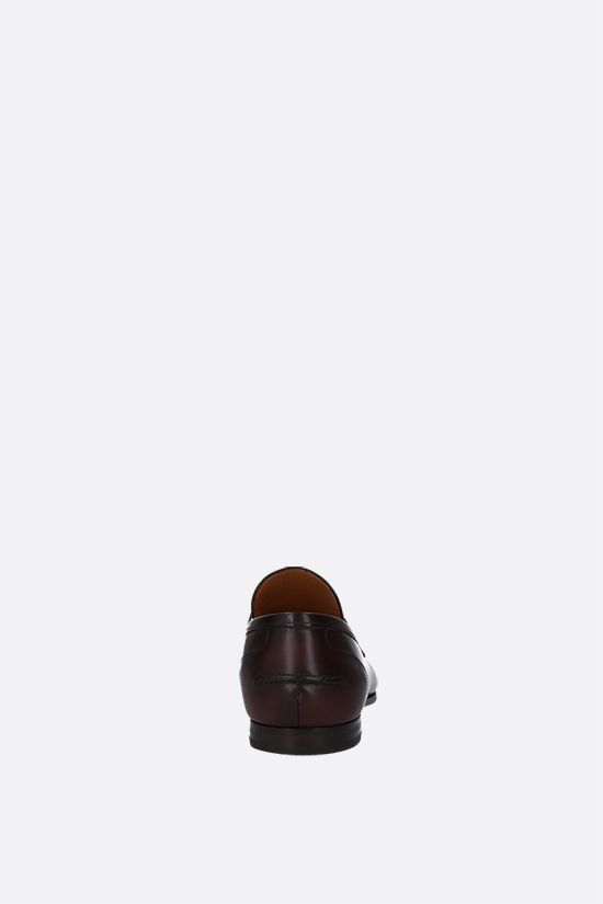 GUCCI: Jordan shiny leather loafers Color Brown_3