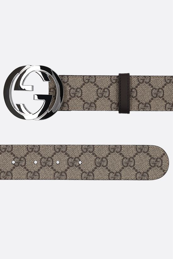GUCCI: GG Supreme canvas belt Color Animalier_2