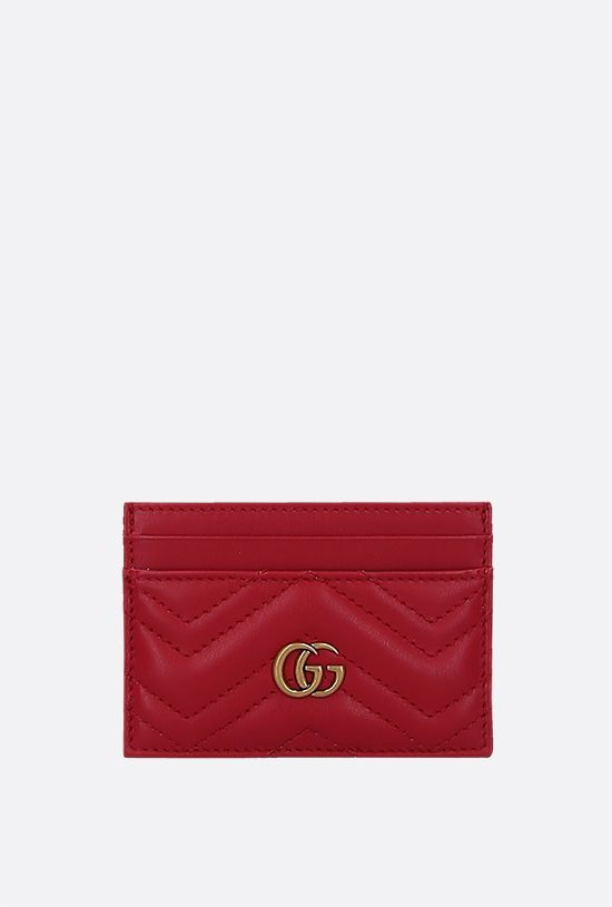 GUCCI: GG Marmont quilted leather card case Color Multicolor_1