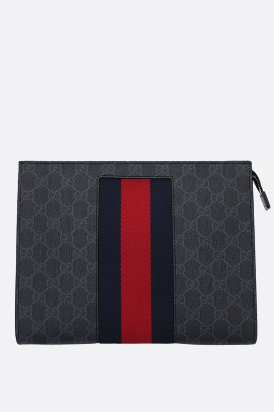 GUCCI: GG Supreme canvas pouch Color Black_1