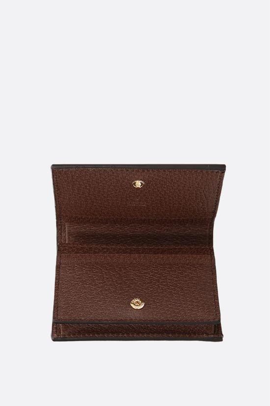 GUCCI: Ophidia compact card case in GG Supreme canvas Color Brown_2