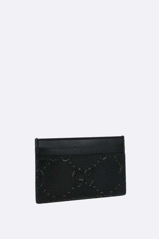 GUCCI: GG embossed leather card case Color Black_2