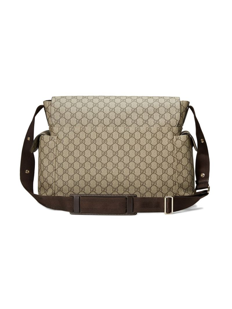 GUCCI CHILDREN: GG Supreme coated canvas changing bag Color Animalier_2