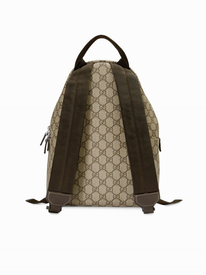 GUCCI CHILDREN: GG Supreme canvas backpack Color Brown_2