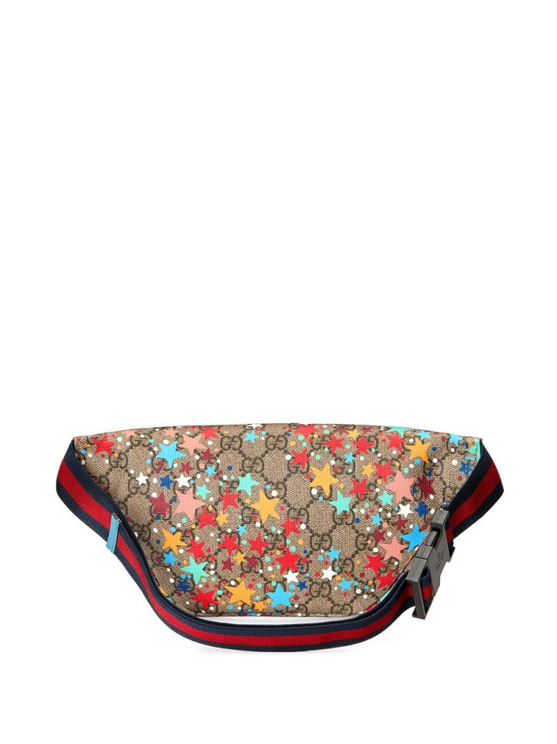 GUCCI CHILDREN: stars print GG Supreme canvas belt bag Color Multicolor_2