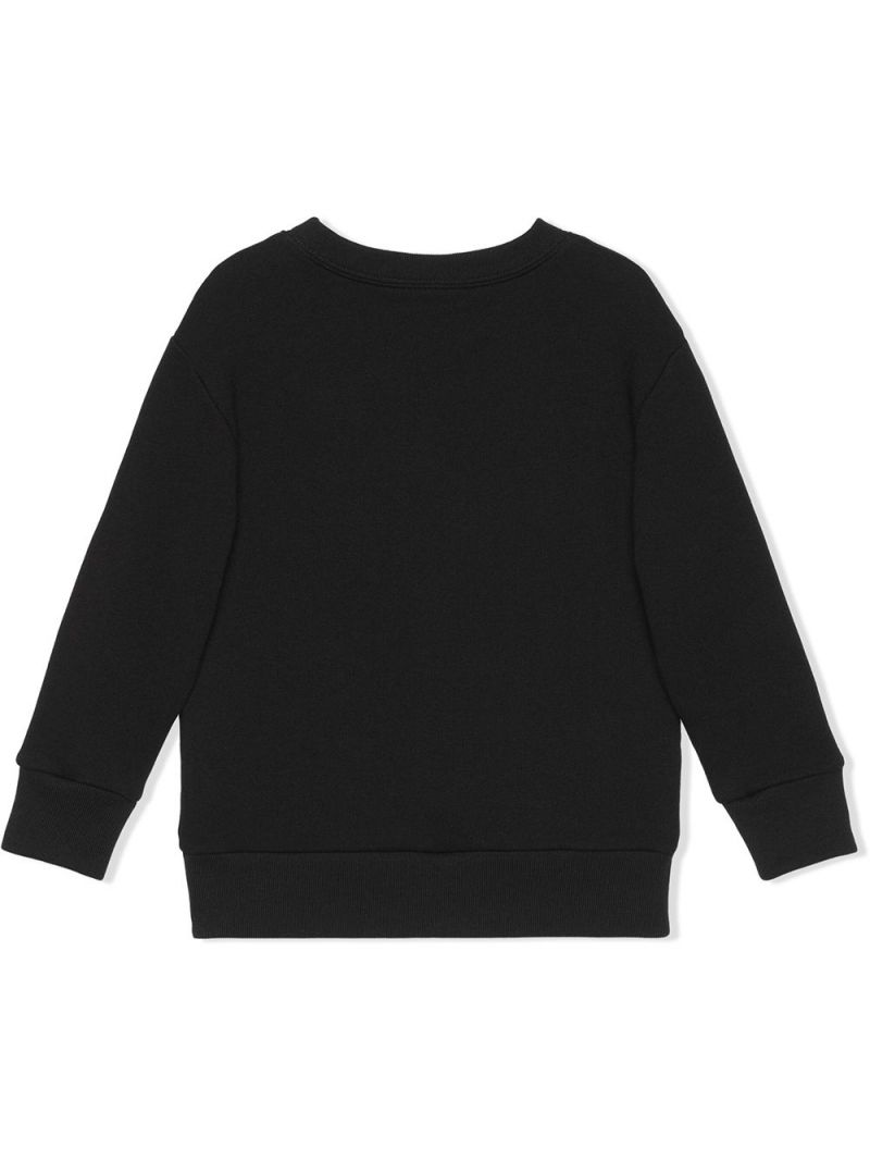 GUCCI CHILDREN: Original Gucci print cotton sweatshirt Color Black_2
