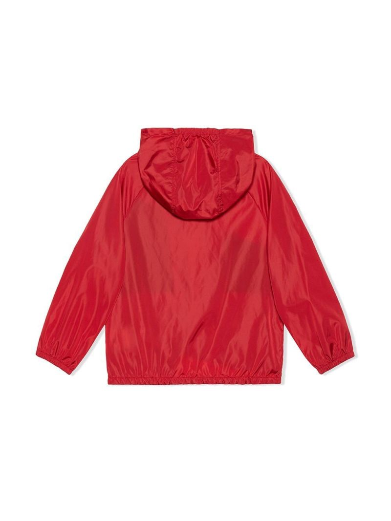 GUCCI CHILDREN: Gucci print nylon windbreaker Color Red_2