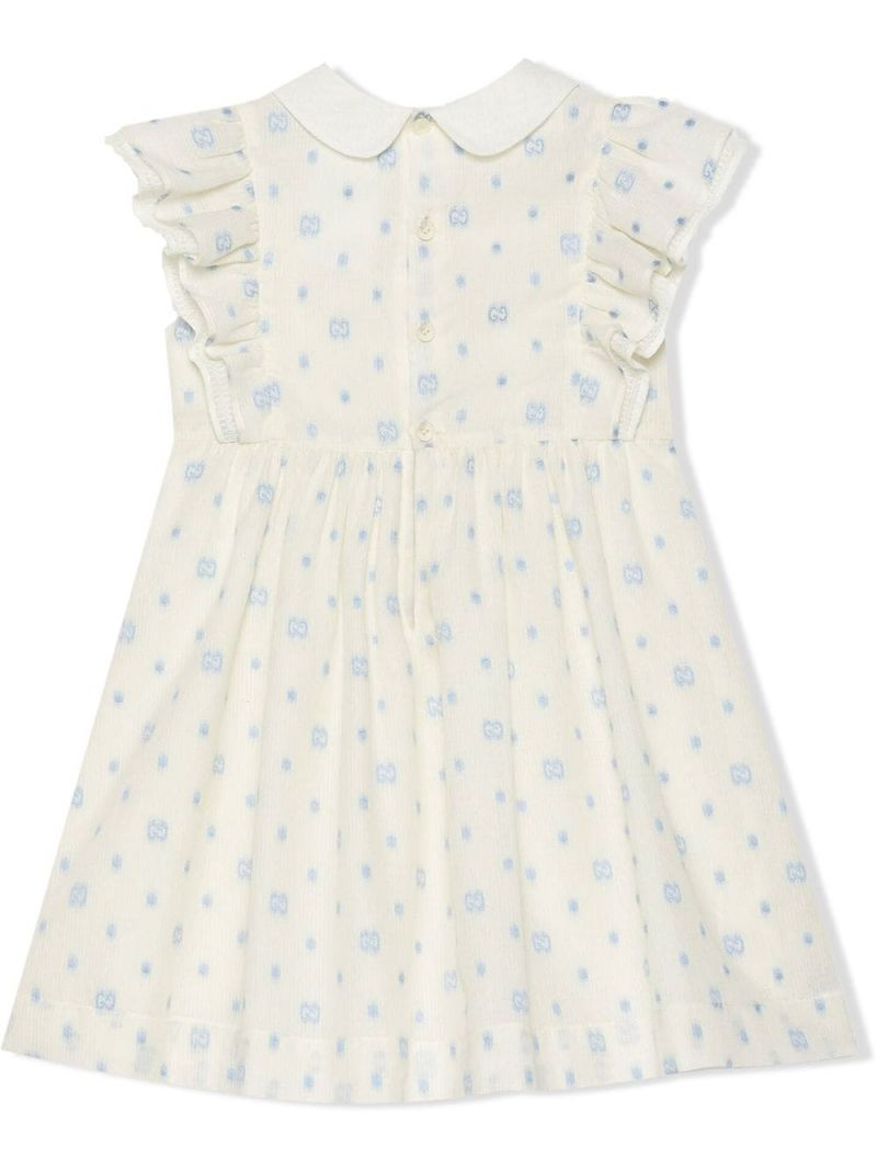 GUCCI CHILDREN: GG dots cotton sleeveless dress Color White_2