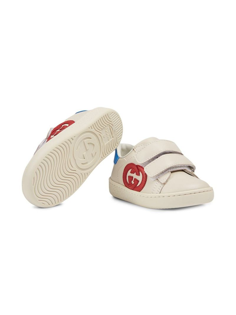 GUCCI CHILDREN: Ace smooth leather sneakers Color White_2