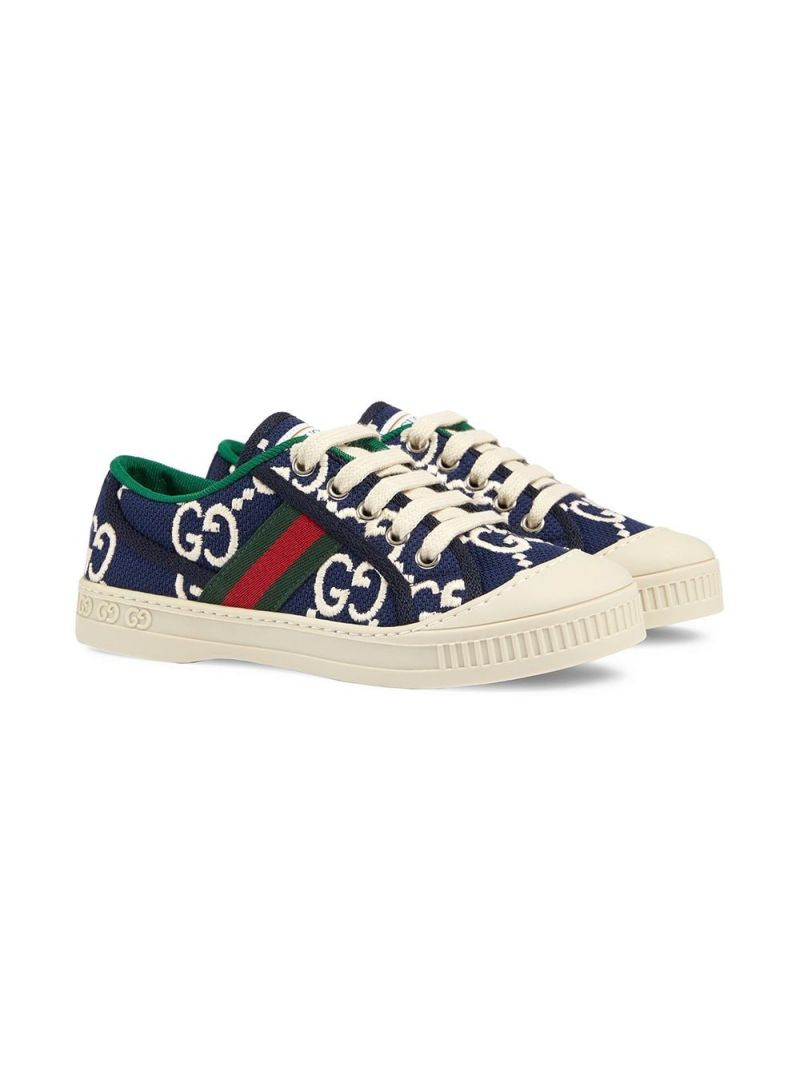 GUCCI CHILDREN: Gucci Tennis 1977 sneakers in GG canvas Color Blue_2